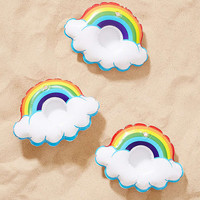 Rainbow Drink Holder Pool Float Set | Urban Outfitters