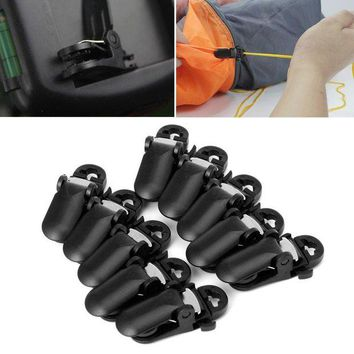 DCCK7N3 10Pcs tent awning canopy clamp tarp clip snap canvas anchor gripper Caravan jaw grip trap Tighten tool outdoor camp hike kit