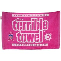 Pittsburgh Steelers Pink Breast Cancer Awareness Myron Cope's The Terrible Towel