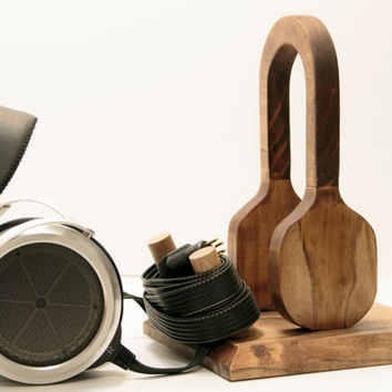 Wood Headphone Stand/ Multiple Headphone Stand/Headphone Station V
