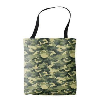 Green Camouflage Pattern All-Over-Print Tote Bag