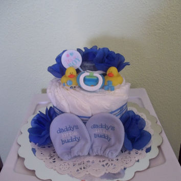 Daddy's Little Buddy Diaper Cake