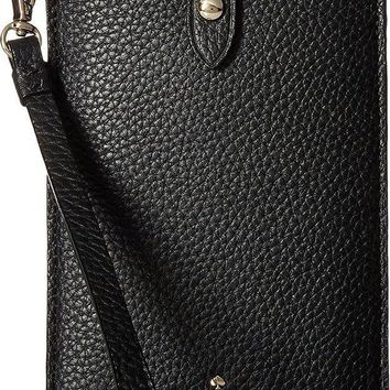 CREYV2S Kate Spade New York Women's Pebbled Phone Sleeve for iPhone 6, 6 Plus, 7, 7 Plus, 8, 8 Plus Black One Size