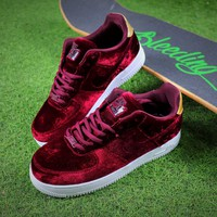 Nike Air Force 1 '07 Low Velvet Sport Shoes AF1 Wine Sneaker - Best Online Sale