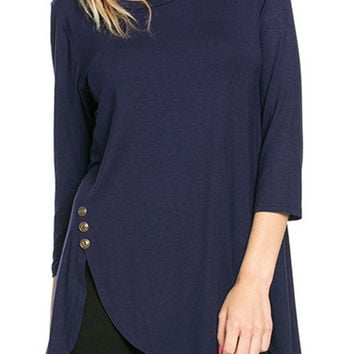 Cupshe Take A Deep Breath Button Top