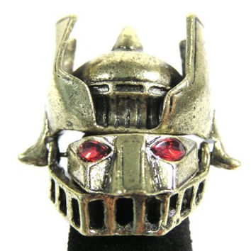 Robot Knight Ring Size 6 Articulated Cyborg Armor RD26 Fashion Jewelry