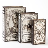 Potion & Spells Decorative Book Boxes (Set of 3) - Halloween Gifts - Gifts