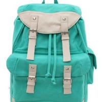 Korean Popular Casual Canvas Schoolbag/ Backpack (Model: B010277) (Green)