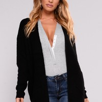 Reserved For You Cardigan - Black