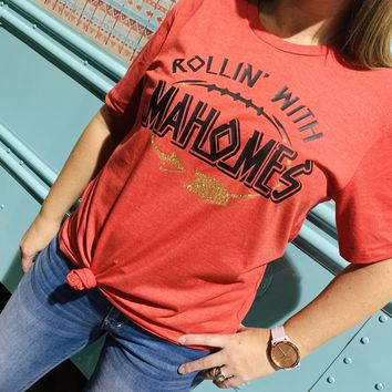 KC Chiefs Rollin' With Mahomes Graphic T-Shirt