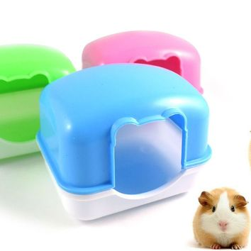 Pet Supplies Small rabbit House Plastic hamster bedroom Can be fixed pet hamster bed small hamster cage nest