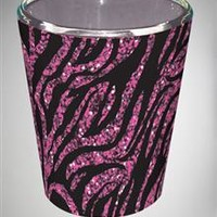 Pink Glitter Zebra Shot Glass