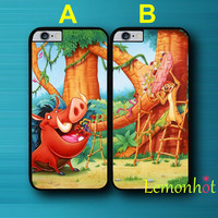 Coque Hakuna Matata Lion King BFF Best Friends Sister Couple Case for iPhone 5 5S 5C 4 4S 6 6S Plus Case for iPod Touch 5 Case.