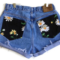 Pocket Full of Daisies High Waisted Shorts