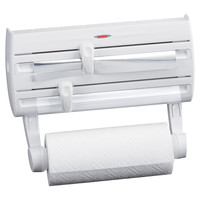 Household Essentials 25771 Leifheit Wall Mount Paper Towel Holder With Spice Rack
