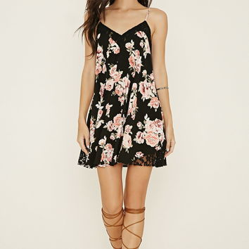 Lacy Floral Cami Mini Dress | Forever 21 - 2000185864