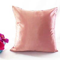 Stiff Light Pink Faux Dupioni Silk Taffeta Cushion Cover Case Al Size#stfcc-13