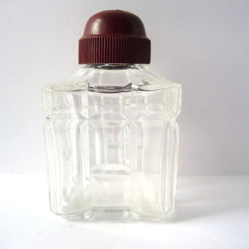 Vintage Salt / Pepper / Cinnamon Shaker - Glass and Plastic Brick Lid
