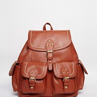 New Look Stab Stitch Backpack