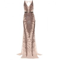 mytheresa.com - Embellished silk-chiffon dress - Luxury Fashion for Women / Designer clothing, shoes, bags