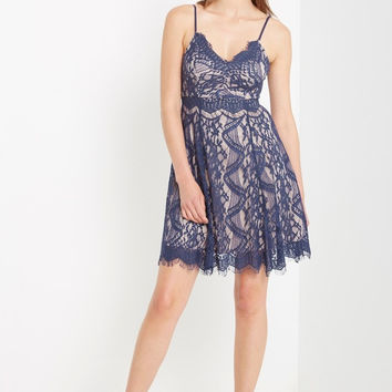 Rosali Lace Fit and Flare Dress