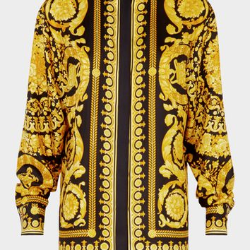 Versace Barocco FW'91 Print Silk Shirt for Women | US Online Store