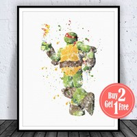 Teenage Mutant Ninja Turtles Raphael Art Print Poster
