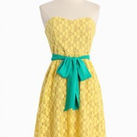 sorbet dessert tube dress in lemon