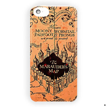 Harry Potter Vintage Map Of Mischief For iPhone 5 / 5S / 5C Case