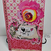 Love,Love,Love You Handmade Valentine. Ready to Ship.