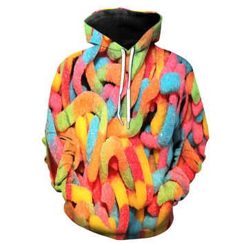 Sour Gummy Worms Hoodie