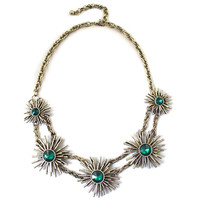 Chrysanthemum Deco Rhinestone Necklace