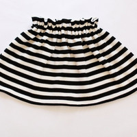 Black and White Striped Baby Toddler Girl Toddler Skirt