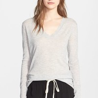 Women's Enza Costa Loose V-Neck Cashmere Sweater,