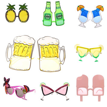 Novelty Hawaiian Beach Sunglasses Goggles for Hen Night Stag Do Party Fancy Dress Costume Party Eyewear Party Glasses