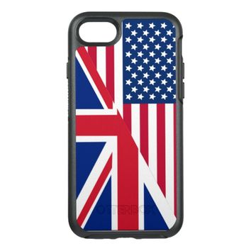 American and Union Jack Flag Apple iPhone 7 Case