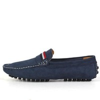LMFIW1 Brand Big Size Fashion Suede Men Loafers High Quality Men Driving Shoes Slip On Leat