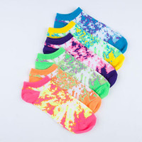 6 Pack Marled Womens No-Show Socks