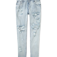 One Teaspoon Awesome Baggies in Fiasco Wash - Distressed Jeans - ShopBAZAAR