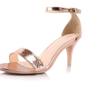 Womens Lovely Ankle Strap Heels