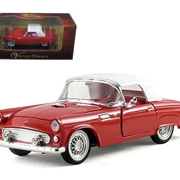 1955 Ford Thunderbird Hardtop Red 1-32 Diecast Car Model by Arko Products