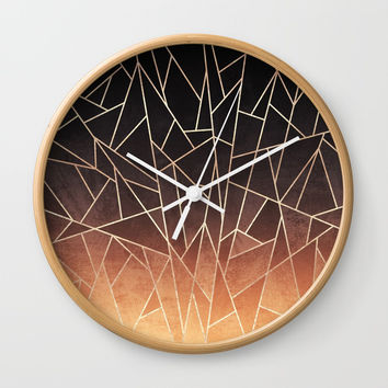 Shattered Ombre Wall Clock by elisabethfredriksson
