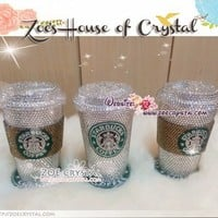 Stylish BLING Crystallized STARBUCKS Ceramic Cup with COZY