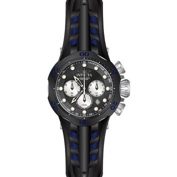 Invicta Men's 22350 Venom Quartz Chronograph Black, Antique Silver Dial Watch