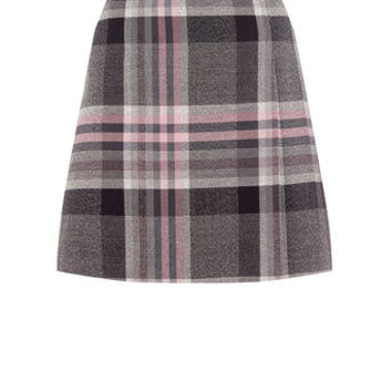 SOFT CHECK POPPY KILT