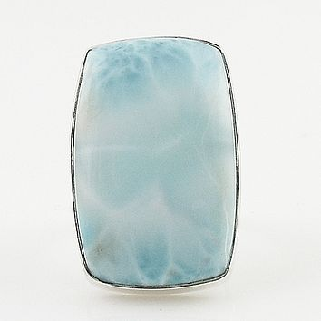 Larimar Sterling Silver Statement Ring