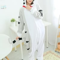 Unisex Flannel Pajamas Onesuits Hooded Animal Pajama Chi's Sweet Cosplay Costumes Chi Cat Pyjama Halloween free shipping