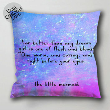disney love quotes little mermaid cool pillow case, cushion cover ( 1 or 2 Side Print With Size 16, 18, 20, 26, 30, 36 inch )