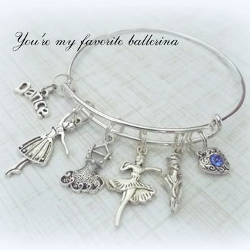 Dancer Gift, Dancer Charm Bracelet, Ballet Jewelry Gift, Gifts for Her