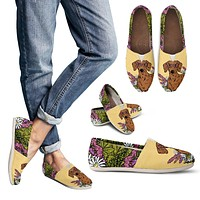 Illustrated Dachshund Casual Shoes